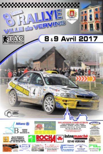 Affiche Rallye Ville de Vervins 2017