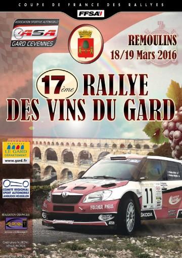 Affiche Rallye des Vins du Gard 2016