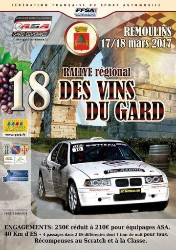 Affiche Rallye des Vins du Gard 2017