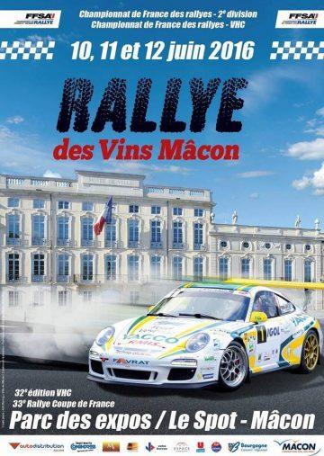 Affiche Rallye des Vins Mâcon 2016