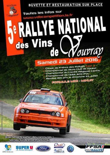 Affiche Rallye des Vins de Vouvray 2016