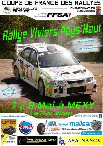 Rallye Viviers - Pays Haut 2016