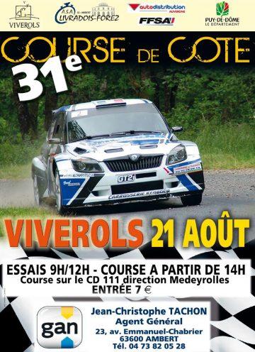 Affiche Course de Côte de Viverols 2016