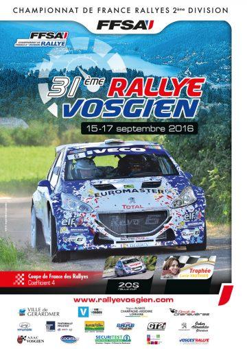 Affiche Rallye Vosgien 2016