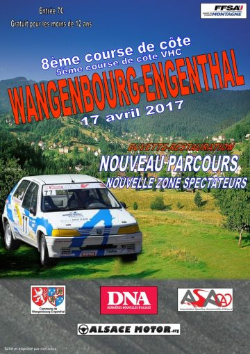 Affiche Course de Côte de Wangenbourg-Engenthal 2017