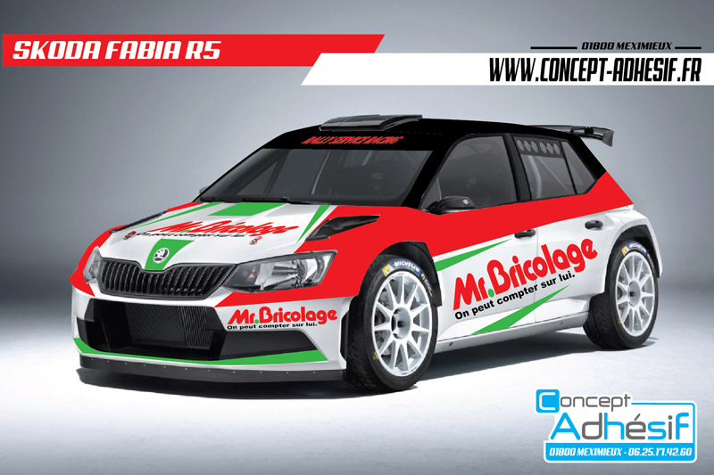 Škoda Fabia R5 - Philippe Baffoun - Rallye Monte-Carlo 2017