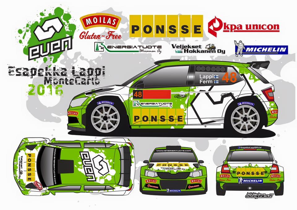 Škoda Fabia R5 - Esapekka Lappi - Rallye Monte-Carlo 2016