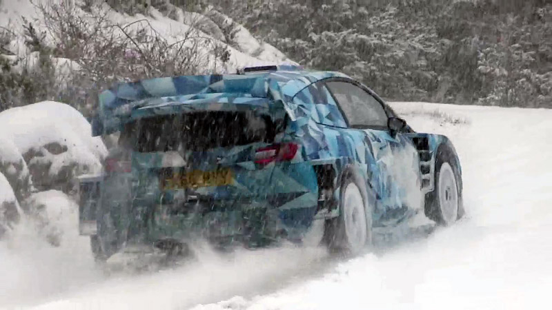 Vidéo Essais Ford Fiesta WRC 2017